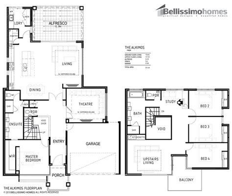 Two Story Colonial House Plans by Double Storey Bellissimo Homes House Designs New Home