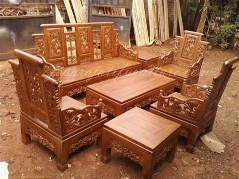Kursi Bambu Satu Set Semarang kursi tamu hongkong bambu anggur jepara jati furniture