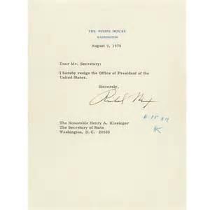 Richard Nixon Resignation Letter by Richard Nixon S Resignation Letter And Gerald Ford S Pardon