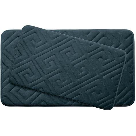 Memory Foam Bath Mat Set by Bouncecomfort Caicos Slate Teal Memory Foam 2 Bath
