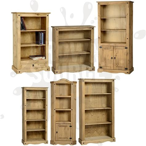 Shelving Furniture Living Room Corona Pine Bookcase Living Room Furniture Book Shelves Mexican Solid Wood Ebay