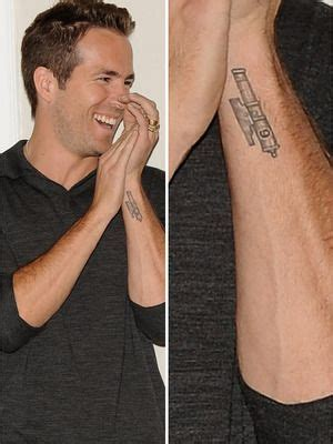 ryan reynolds wrist tattoo tattoos
