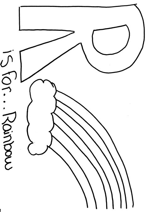 free r is for coloring pages