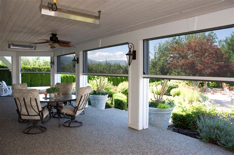 Rectractable & Motorized Patio Screens   Roll Up Patio