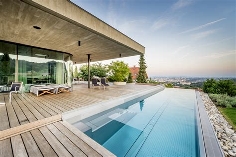 ultra contemporary home overlooking the city of linz house e by caramel architekten in linz austira