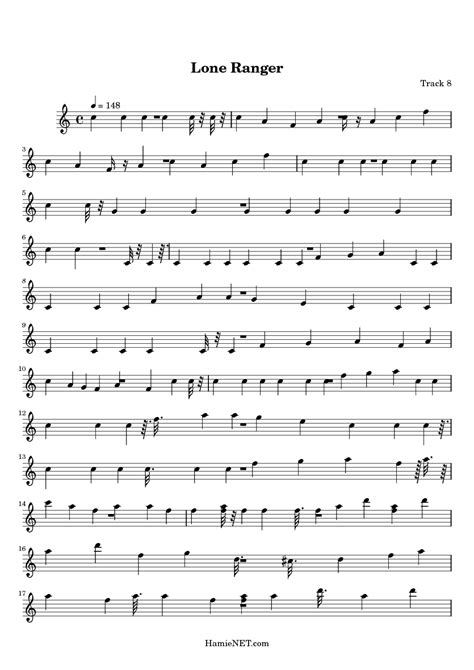 theme song lone ranger lone ranger sheet music lone ranger score hamienet com