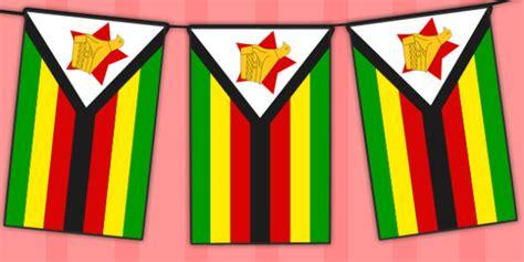 flags of the world twinkl zimbabwe flag display bunting africa geography ks2 ks1
