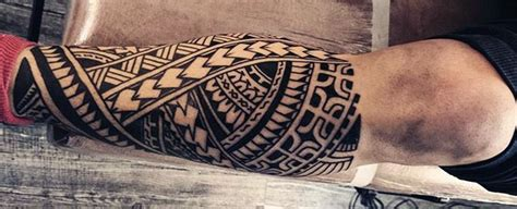 tribal tattoos for men on leg 60 tribal leg tattoos for cool cultural design ideas