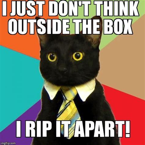 Thinking Cat Meme - business cat meme imgflip