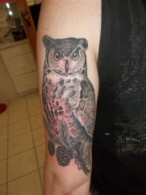 great horned owl tattoo pinterest