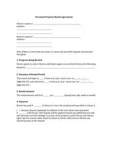 Renting Agreement Template by Rental Agreement Free Rental Lease Agreement Form
