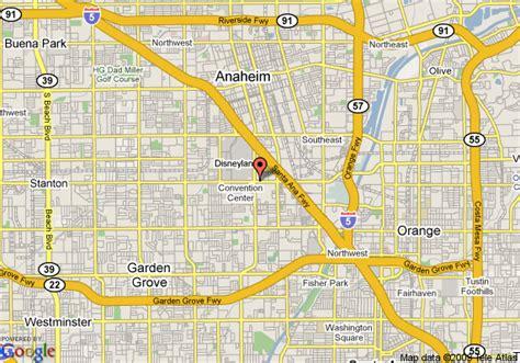 anaheim california on map map of 8 motel anaheim near disneyland anaheim
