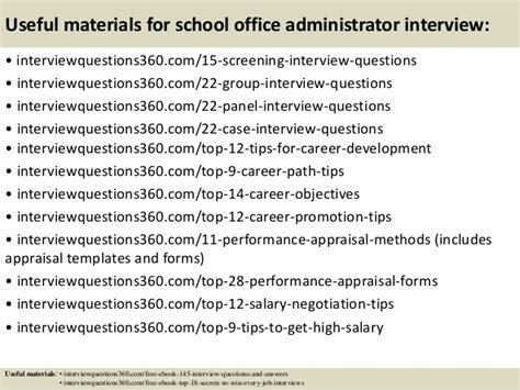 School Office Administrator by Top 10 School Office Administrator Questions And