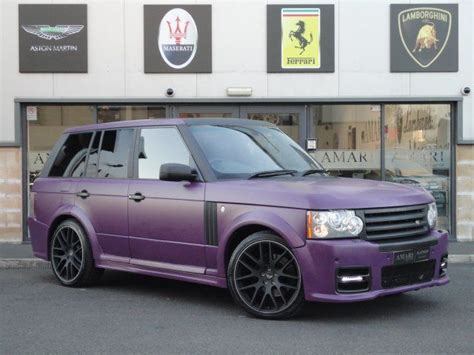 land rover purple 2008 57 land rover vogue 3 6 se purple wrap for sale in