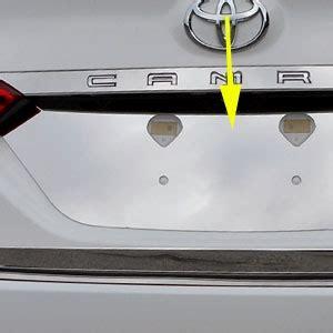 toyota camry chrome license plate bezel, 2018, 2019