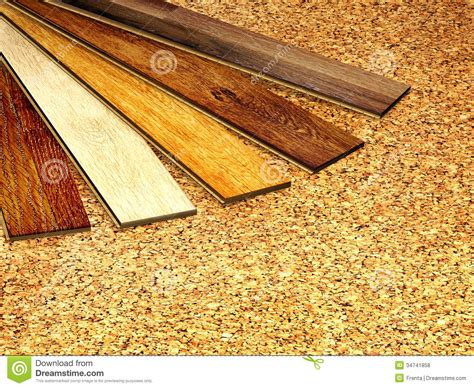 Oak Parquet And Cork Flooring Texture Royalty Free Stock