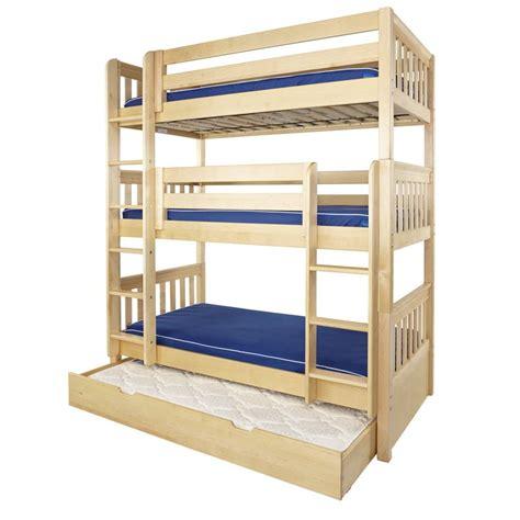 maxtrix beds maxtrix holy triple bunk bed natural 780 main