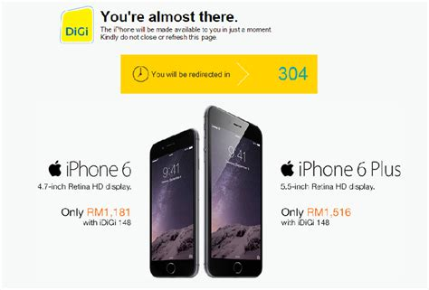 maxis and digi crash due to iphone 6 pre orders thehive asia
