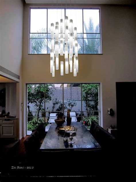 Modern Ceiling Lights For Dining Room White Candles Modern Ceiling Light By Galilee Lighting Modern Dining Room Other Metro