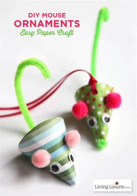 Paper Craft Ornaments - diy paper mouse ornament living locurto