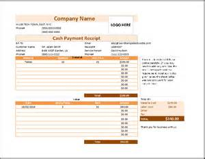 Receipts For Payments Template by Payment Receipt Template Free Formal Word