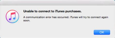 justlocal (just local): itunes error message unable to