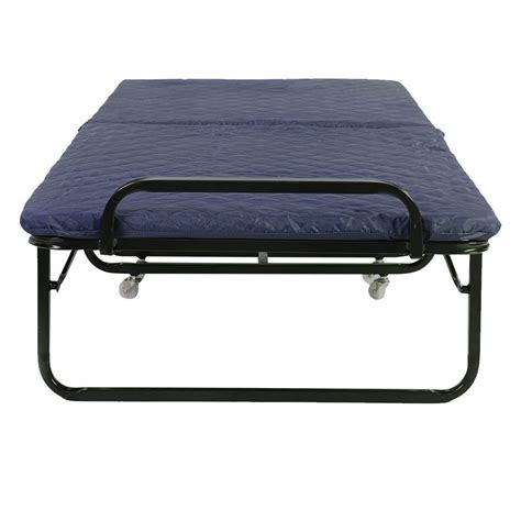 Folding Bed With Mattress 3 Colors Folding Bed Foam Mattress Roll Away Guest Portable Sleeper Ebay