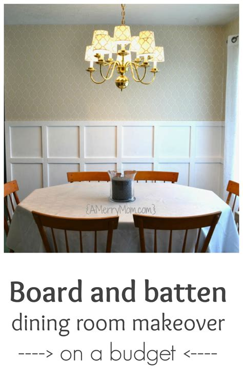 board and batten dining room makeover on a budget a