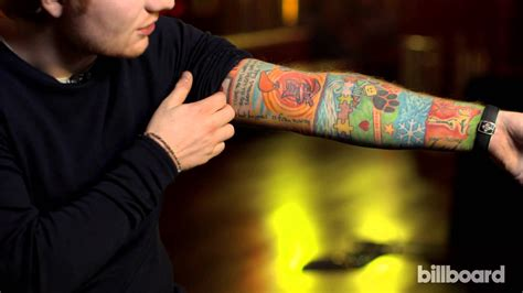 what is ed sheeran s tattoo on his right arm ed sheeran explains his tattoos 99 7 djx