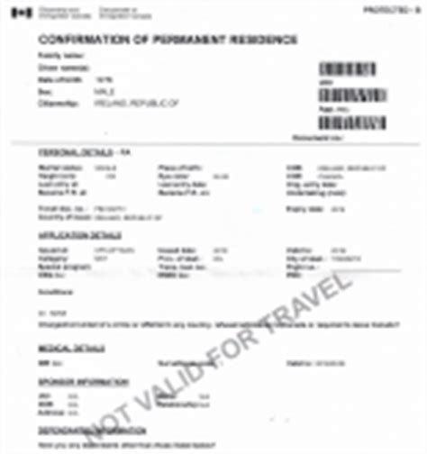 Confirmation Letter Permanent Residence South Africa Record Of Landing Amend Record Of Landing