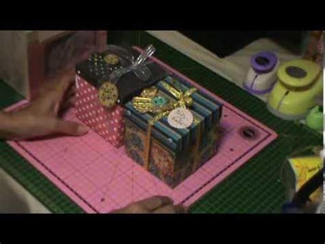 tutorial caixa scrapbook scrapbooking tutorial caixa surpresa natalina parte 2