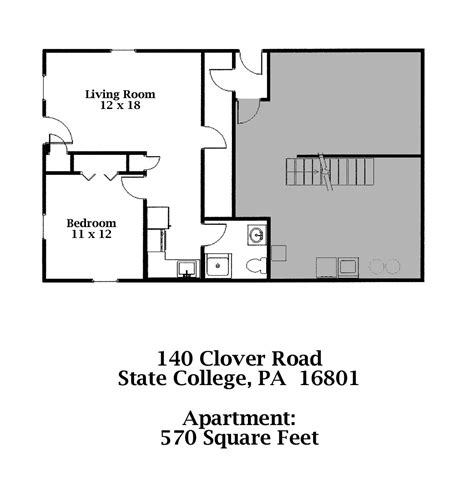 one bedroom apartments state college pa 140 b clover road 1 bedroom apt state college pa 16801