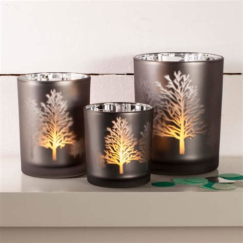 candel holder tree silhouette mirror candle holder by thelittleboysroom