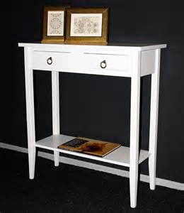 Telefontisch Holz telefontisch konsolentisch flurtisch weiss lackiert holz