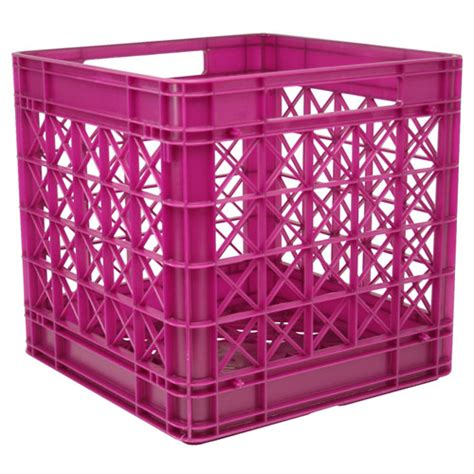 plastic crate iris stackable plastic storage crate fuschia in plastic storage boxes