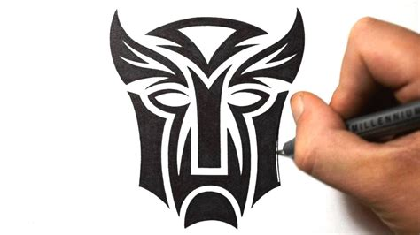 tribal tattoo logo 19 autobot minecraft pixel batman symbol