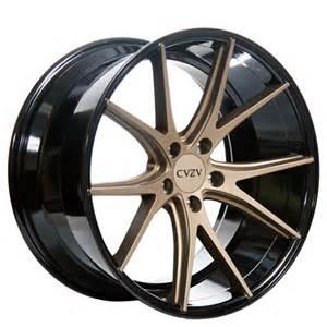 20 Bronze Truck Wheels 20 Quot Azad Wheels Az36 Bronze W Black Concave Rims Az002 1
