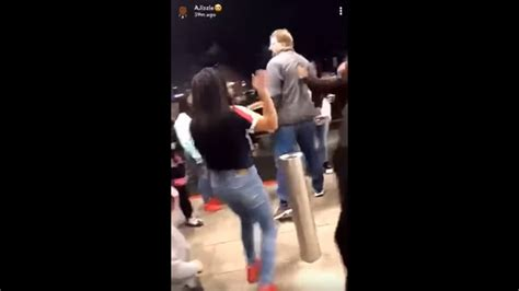 fight  nc mall ends  man punching   year  girl   face video shows