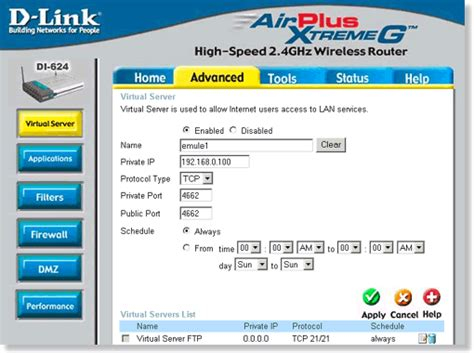 emule dlink products configuration and installation on d