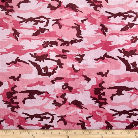 Mossy Oak Home Decor by Minky Camouflage Pink Discount Designer Fabric