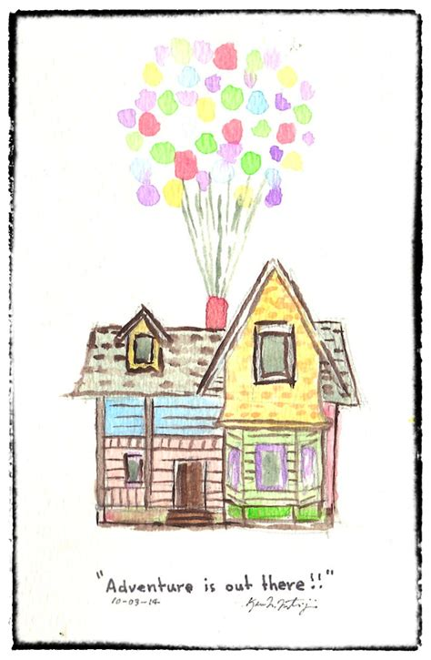 house up up house watercolour test by nerdygeekydweeb