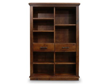 beckett rustic solid timber staggered cube bookcase