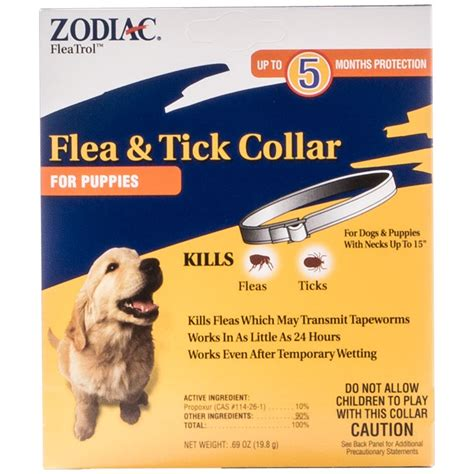flea collar for puppies zodiac zodiac flea and tick collar for puppies 5 month supply flea tick collars
