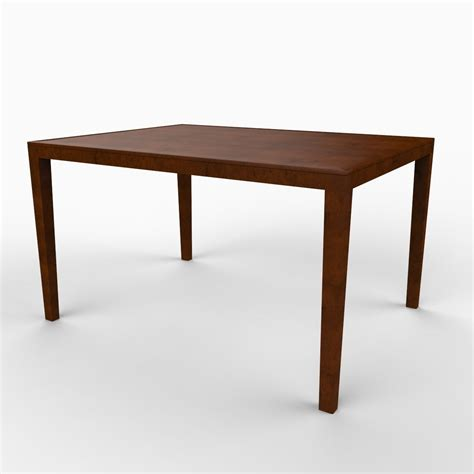 Simple Dining Table Simple Dining Table 3d Model Max Obj 3ds C4d Lwo Lw Lws Ma Mb Cgtrader