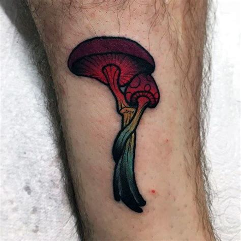 small mushroom tattoo 60 designs for fungus ink ideas