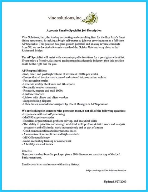 resume sle for accounts payable 28 accounts payable objective statement accounting clerk