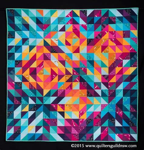 Patchwork Sydney - pleiades by davis 2015 quilters guild nsw show