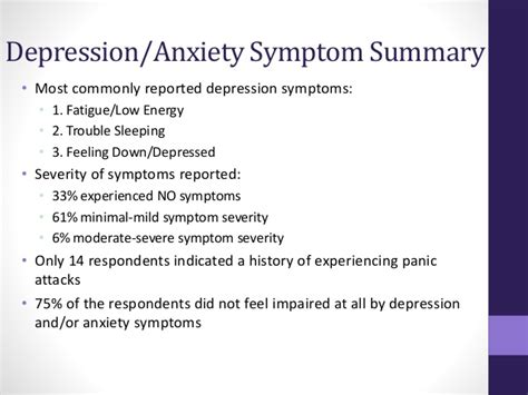 depression symptoms descriptive assessment of depression and anxiety symptoms in an outpa