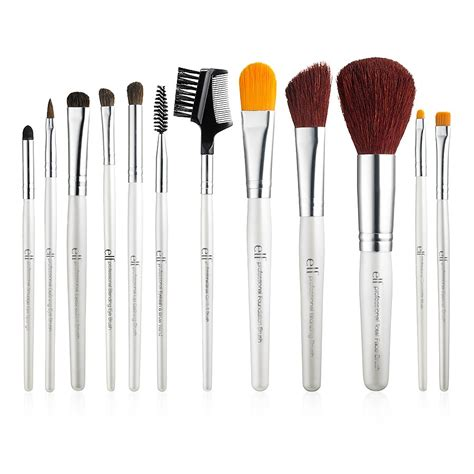 Brush Kit 12 In 1 Kualitas Premium Make Up Proffesional Salon professional complete set of 12 brushes e l f cosmetics