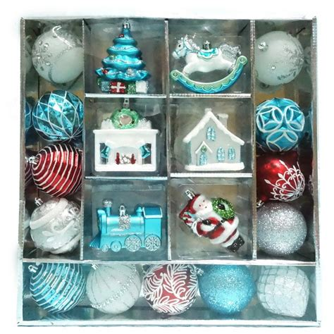 martha stewart living christmas morning ornament set 19
